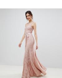 rosa Spitze Ballkleid von City Goddess Tall