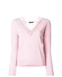 rosa Spitze Langarmshirt von Twin-Set