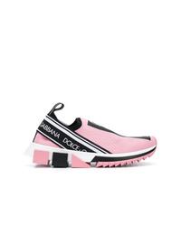 rosa Sportschuhe von Dolce & Gabbana