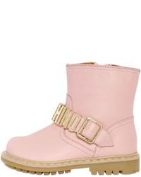 rosa Stiefel aus Leder