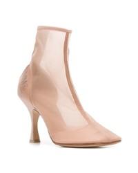 rosa Stiefeletten aus Netzstoff von MM6 MAISON MARGIELA