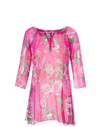 rosa Strandkleid mit Blumenmuster von Amir Slama