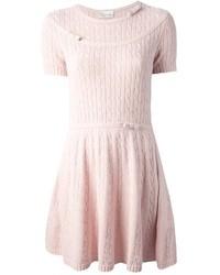 rosa Strick Freizeitkleid von RED Valentino