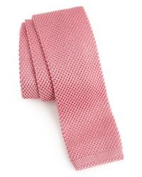 rosa Strick Krawatte