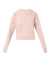 rosa Strick kurzer Pullover