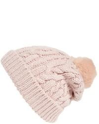 rosa Strick Mütze