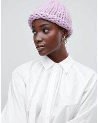 rosa Strick Mütze von Vero Moda