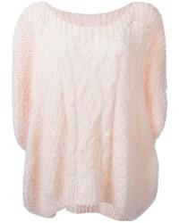rosa Strick Oversize Pullover von Mes Demoiselles