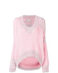 rosa Strick Oversize Pullover von Natasha Zinko