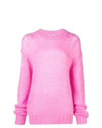 rosa Strick Oversize Pullover von Prada