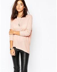 rosa Strick Oversize Pullover von Sisley
