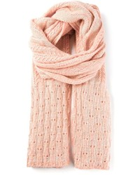 rosa Strick Schal