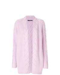 rosa Strick Strickjacke mit einer offenen Front