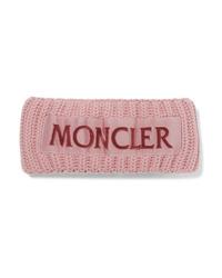 rosa Strick Wollhaarband von Moncler