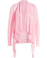 rosa Strickjacke mit einer offenen Front