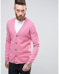 rosa Strickjacke