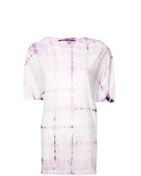 rosa Mit Batikmuster T-Shirt mit einem Rundhalsausschnitt von Proenza Schouler
