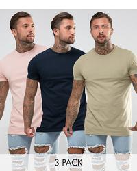rosa T-Shirt mit einem Rundhalsausschnitt von ASOS DESIGN