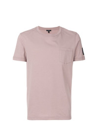 rosa T-Shirt mit einem Rundhalsausschnitt von Belstaff