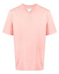 rosa T-Shirt mit einem Rundhalsausschnitt von Bottega Veneta