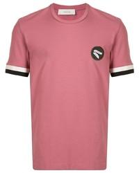 rosa T-Shirt mit einem Rundhalsausschnitt von Cerruti 1881