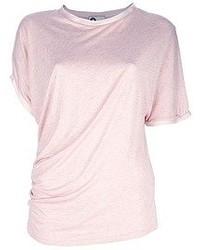 rosa T-Shirt mit einem Rundhalsausschnitt von Lanvin