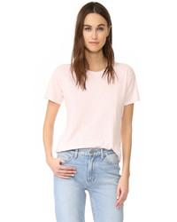 rosa T-Shirt mit einem Rundhalsausschnitt von Madewell