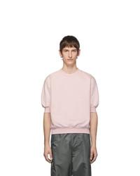 rosa T-Shirt mit einem Rundhalsausschnitt von Random Identities