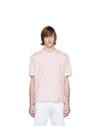 rosa T-Shirt mit einem Rundhalsausschnitt von Thom Browne