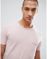 rosa T-Shirt mit einem Rundhalsausschnitt von Tom Tailor