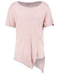 rosa T-Shirt mit einem Rundhalsausschnitt von Boom Bap