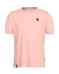 rosa T-Shirt mit einem Rundhalsausschnitt von Naketano