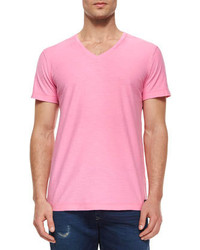 Rosa t shirt mit v ausschnitt original 384642