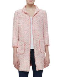 rosa Tweed-Jacke