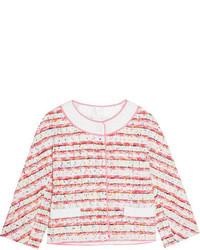 Rosa Tweed Jacke von Moschino