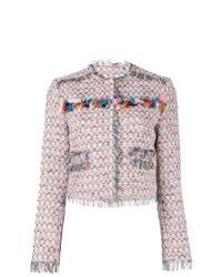 rosa Tweed-Jacke von MSGM