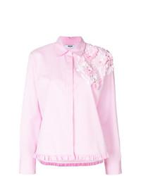rosa vertikal gestreifte Bluse mit Knöpfen von MSGM