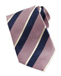 rosa vertikal gestreifte Krawatte