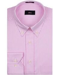 rosa vertikal gestreiftes Businesshemd