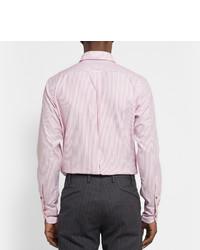 rosa vertikal gestreiftes Businesshemd von Drakes