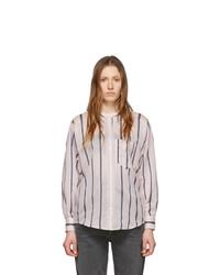 rosa vertikal gestreiftes Businesshemd von Isabel Marant Etoile
