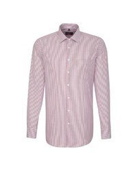 rosa vertikal gestreiftes Businesshemd von Seidensticker