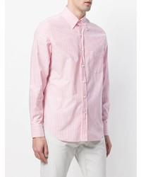 rosa vertikal gestreiftes Businesshemd von Loro Piana