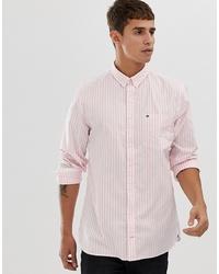 rosa vertikal gestreiftes Businesshemd von Tommy Hilfiger