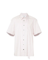rosa vertikal gestreiftes Kurzarmhemd