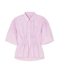 rosa vertikal gestreiftes Kurzarmhemd von Cédric Charlier