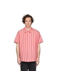 rosa vertikal gestreiftes Kurzarmhemd von Goodfight