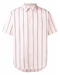 rosa vertikal gestreiftes Kurzarmhemd von MSGM