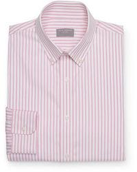 rosa vertikal gestreiftes Langarmhemd