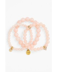 rosa verziert mit Perlen Armband